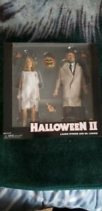 """NECA HALLOWEEN 2, LAURIE STRODE AND DR. LOOMIS 8"""" CLOTHED FIGURES, (BRAND NEW)"""