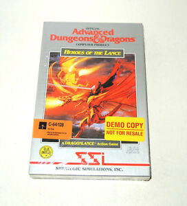 HEROES-OF-THE-LANCE-new-factory-sealed-big-box-by-SSI-for-C64-videogame-AD-amp-D