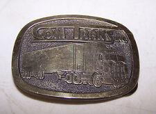 Vintage COM TRANS INC Belt Buckle - Semi Truck Trucking Company