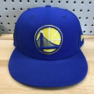 Golden-State-Warriors-NBA-Basketball-New-Era-9FIFTY-SnapBack-Hat-EUC-Blue-Cap