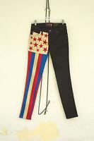 Tripp Nyc Skinny Jeans Hybrid All American Flag Patriot Gothic Punk Size 3/5