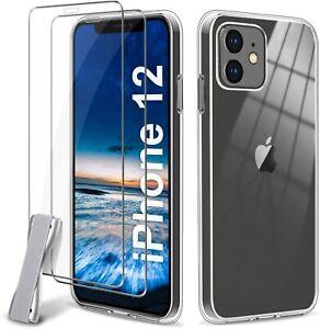 Détails sur Vitre Film Verre Trempé Coque iPhone 12 Mini 12 Pro Max 11 XS XR 7/8/6/SE