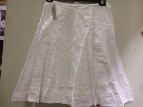 james perse wlc5638 white womens a line skirt drawstring new sz *2 m knee length
