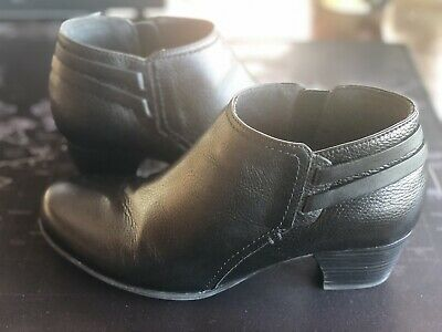 Black Leather Ankle Boots | eBay