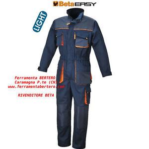Tuta-leggera-da-lavoro-BETA-7875E-IDEALE-MECCANICO-GOMMISTA-AGRICOLTURA-OFFICINA