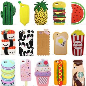 promo code f35be da759 Details about 3D Cartoon Hot Cute Kawaii Food Silicone Phone Case Cover  Back For Various Phone