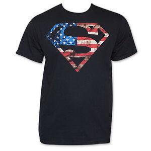 21d67d15e72 Image is loading Superman-American-Flag-Logo-T-Shirt