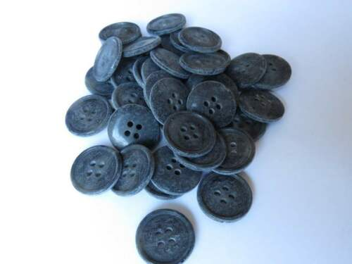 4-Hole Buttons Grey colour looks like suede 19mm 20 pcs 30L