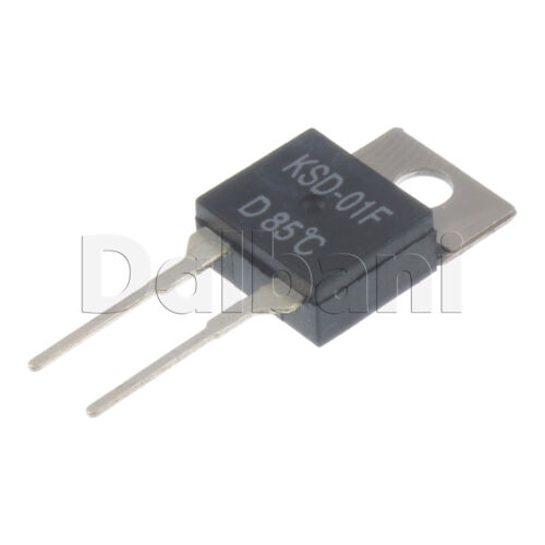 2pcs KSD-01F-D85C Cantherm Thermostat Temperature Switch 250V 2 Pin 85 C