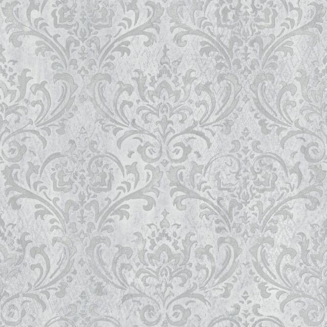 Essener Papier Peint G45170 Steampunk Baroque Classique Gris Clair