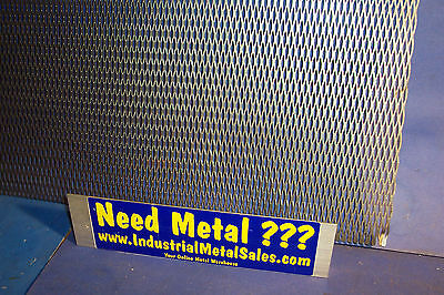 "Expanded Metal Sheet Diamond Pattern .035/"" x 16/"" x 16/"" />1//4/""-#20 Expanded Steel"