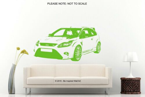 Wall Art Sticker Ford Focus RS 2008-2011 *