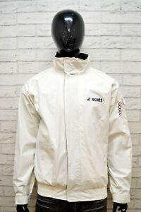 SCOTT-Uomo-Giacca-Giubbino-Taglia-Size-XL-Cappotto-Giubbotto-Jacket-Bianco-Man