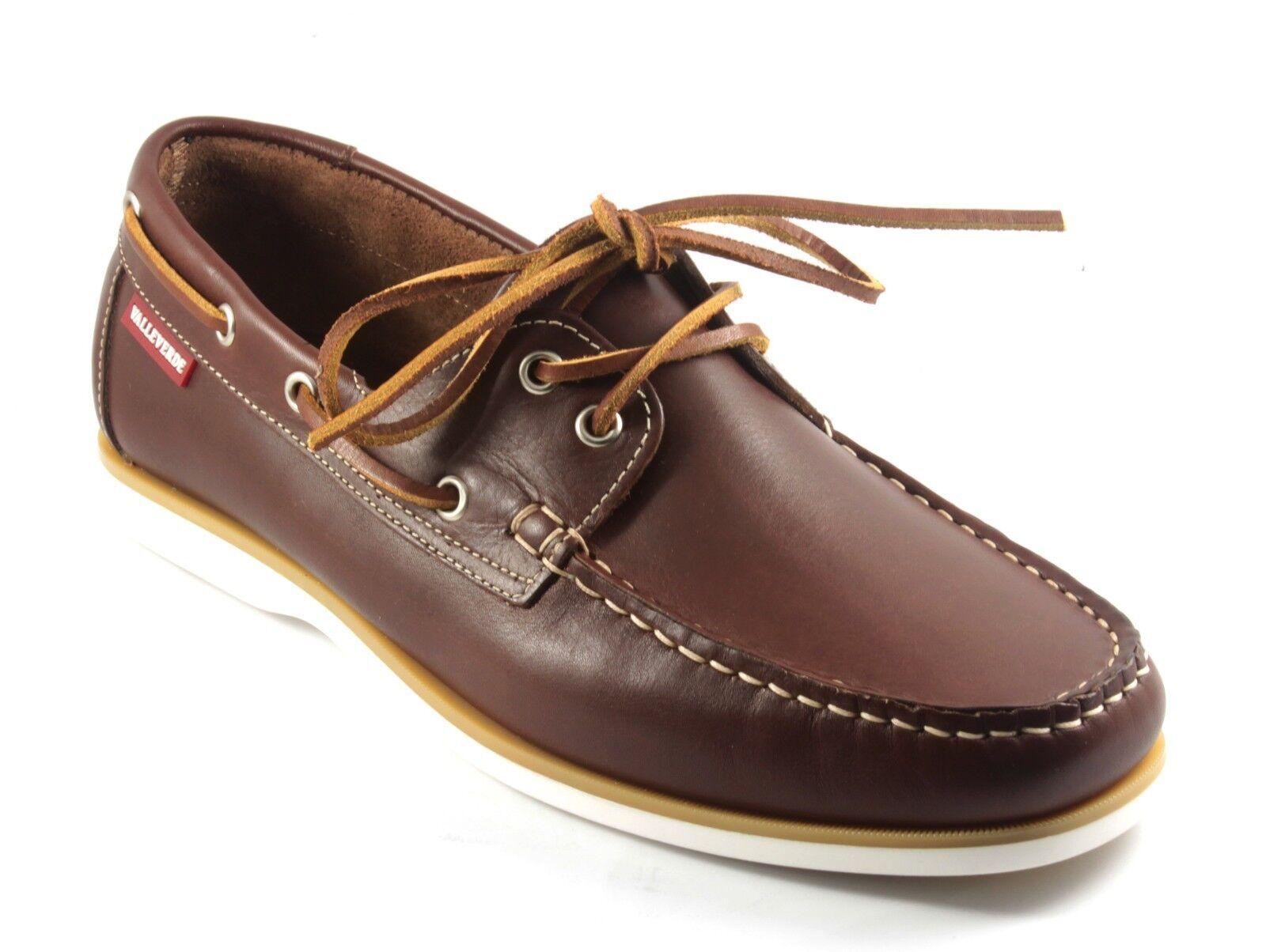 11802 VALLEverde zapatos hombres ALLACCIATE DA BARCA IN PELLE ColorE marrón n. 45