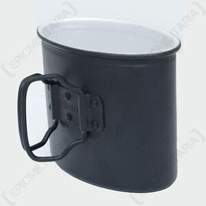 WW2 REPRO DRINKING MUG GERMAN ARMY BLACK M31 ALUMINIUM CUP