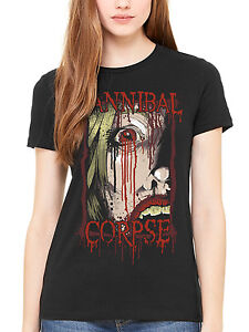 Official T Death Cannibal Fitted Women's Shirt Blood Corpse Face HDE92I