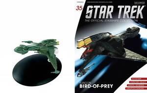 Star Trek nave espacial colección revista # 35 klingon Bird of Prey Eaglemoss collect