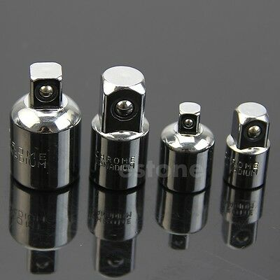 """4pcs Socket Ratchet Converter Reducers Adaptors Tool 1/2"""" 3/8"""" 1/4"""" Set Garage"""