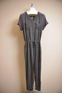 Free-People-Short-Sleeve-Faded-Black-Pants-Jumpsuit-Jumper-Romper-Women-039-s-size-L