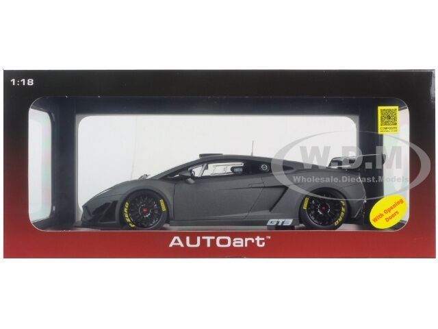 LAMBORGHINI GALLARDO GT3 FL2 2013 MATT MATT MATT GREY 1 18 MODEL CAR AUTOART 81360 7b8937