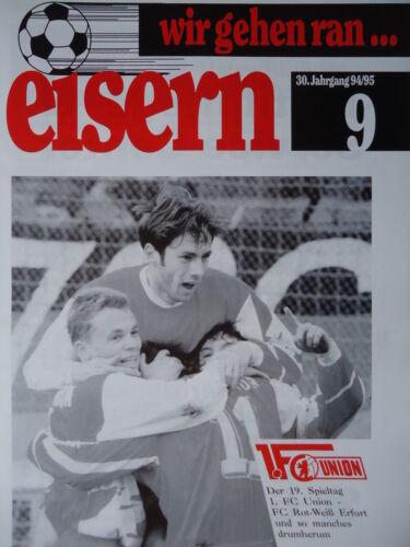Programme 1994//95 union Berlin-rw Erfurt