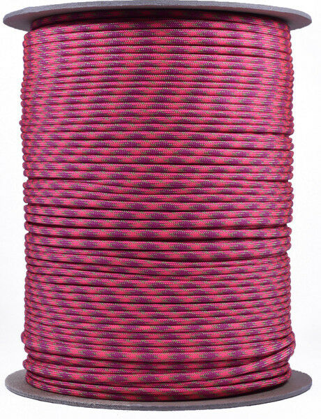 Volcanic - 550 Paracord Rope 7 strand Parachute Cord - 1000 Foot Spool
