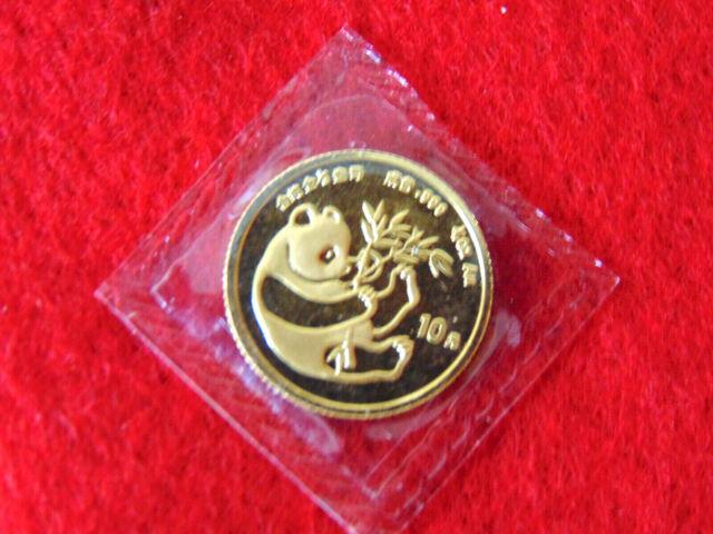 Original Sealed 1984-1/10 oz 999 China Panda Gold Coin