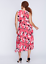 LANE-BRYANT-Printed-Pleated-Skirt-Dress-14-16-18-20-22-24-26-28-Pink-1x-2x-3x-4x thumbnail 3