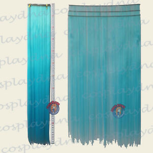 Light-Blue-Hair-Weft-Extention-3-pieces-40-034-High-Temp-Cosplay-DNA-Wig-8VLB