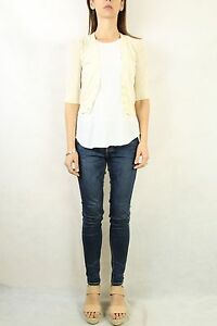 COUNTRY-ROAD-Ivory-Cotton-Perforated-Knit-Cardigan-Size-M-10-12