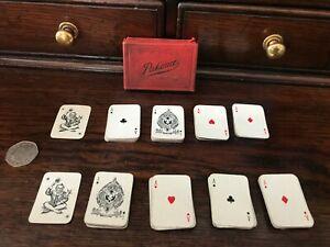 Vintage-2-Decks-of-Miniature-Cards-Patience-Set-With-Original-Box