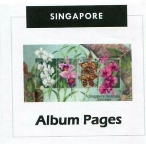Singapore CD-Rom 1948-2019 Color Illustrated Album Pages with New Update