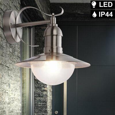 LED Vintage Wall Light Filament Exterior Lantern Facade Lamp Garden Silver