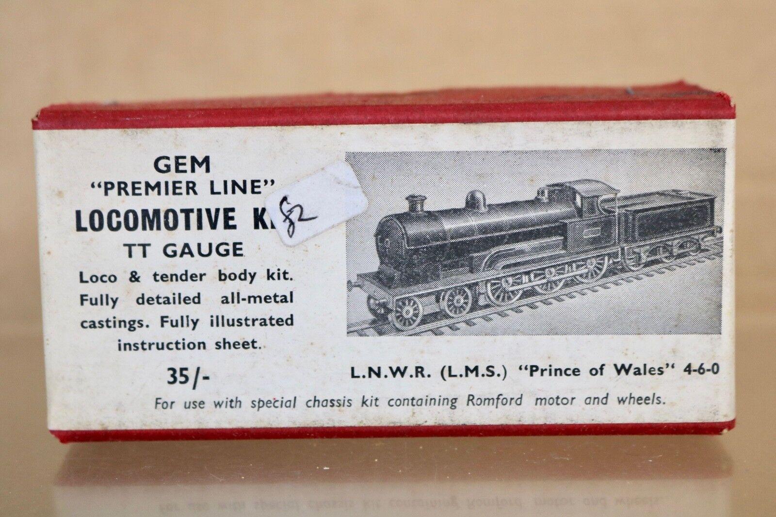 GEM TT GAUGE KIT BUILT LNWR LMS 4-6-0  PRINCE of WALES CLASS LOCOMOTIVE KIT