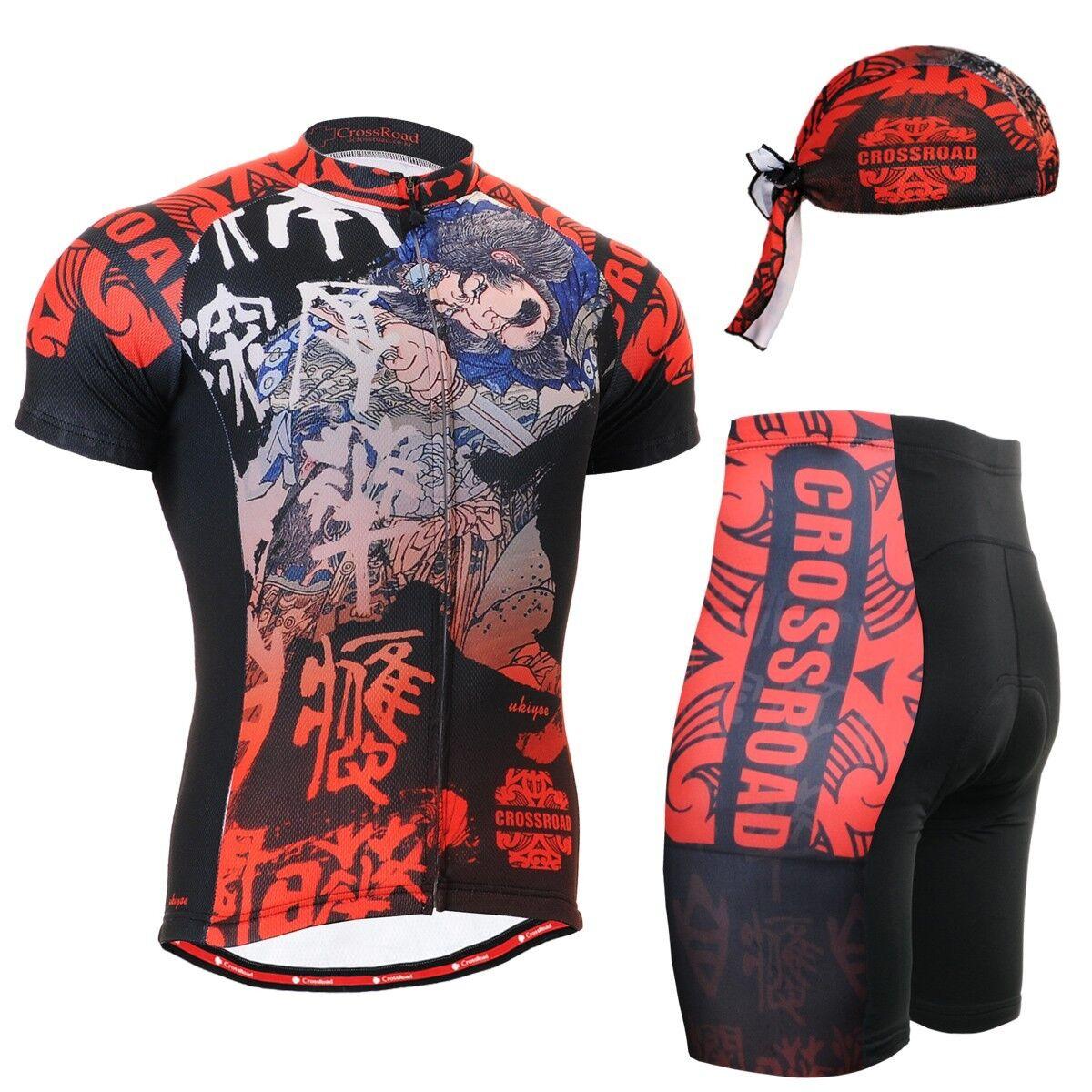 FIXGEAR CS -2802 -SET Cycling Jersey &Shorts Padted, MTB Cykel, BMX, Beanie GIFT