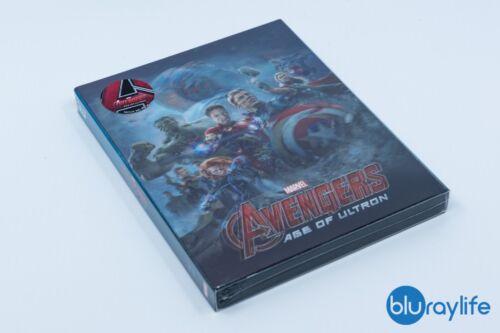 Avengers: Age Of Ultron Blu Ray 3 D & 2 D Steel Book Novamedia Nc07 Lenticular Slip by Nova Media