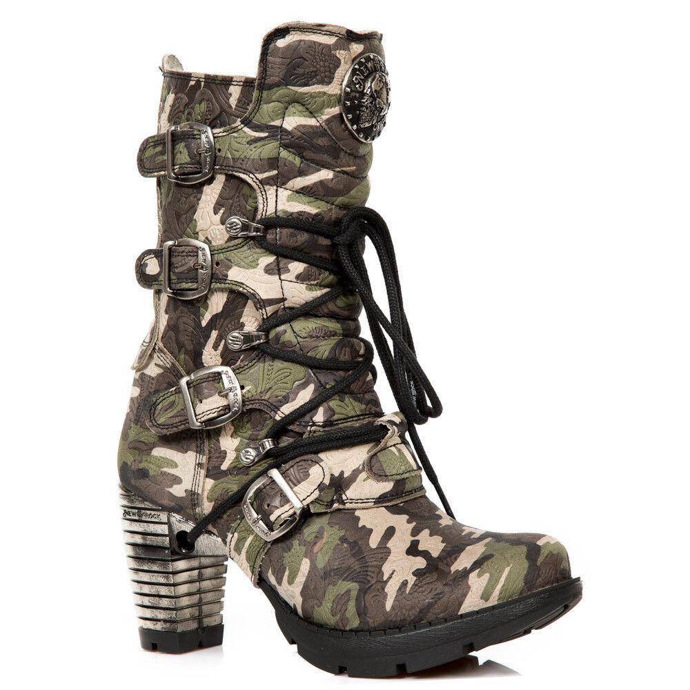 New New New Rock señora botas zapatos apartado Trail m.tr003-s16 camuflaje Army  Las ventas en línea ahorran un 70%.