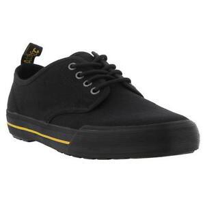 Image is loading Dr-Martens-Pressler-Canvas-Mens-Black-Shoes-Trainers-