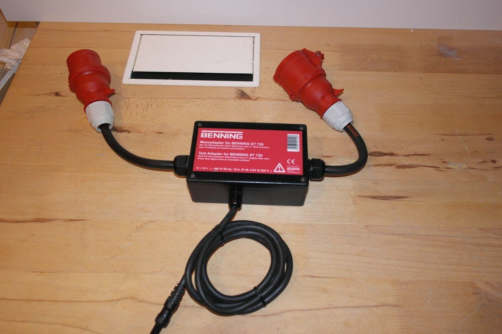 BENNING Messadapter 16 A CEE 5-polig dreiphasige aktiv für Gerätetester 3 phasig