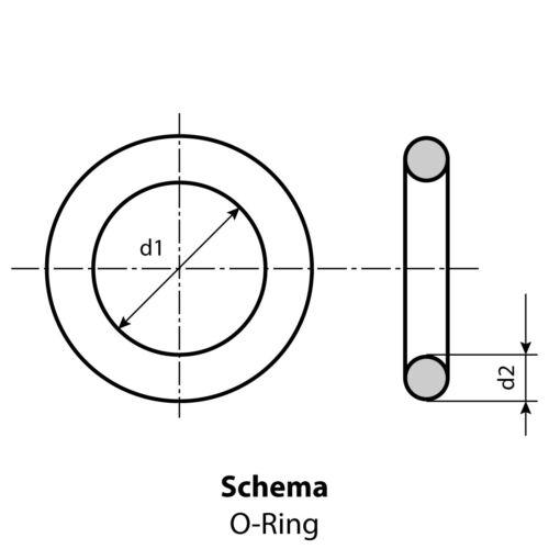 O-Ring 5,94 x 3,53 mm FKM 80 Dichtring Menge 2 Stück schwarz oder braun