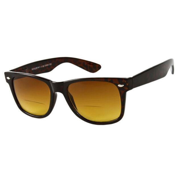 The Arizona Bifocal Wayfarer Sun Reader Sunglasses Spring Temple Various Power