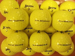 30-SRIXON-AD333-YELLOW-2014-GOLF-BALLS-PEARL-GRADE-A-LAKE-BALLS-FREE-DELIVERY