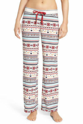 NEW PJ Salvage Women/'s Thermal Velour Lounge Pajama Pants Christmas Print L