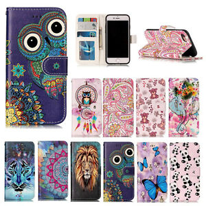YH-3D-Relief-Flip-Magnetic-PU-Leather-Wallet-Stand-Case-Cover-For-Lot-Phones