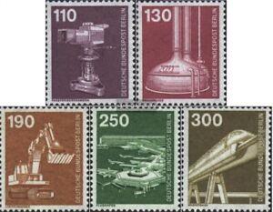 Berlin-West-668-672-kompl-Ausgabe-gestempelt-1982-Industrie-und-Technik