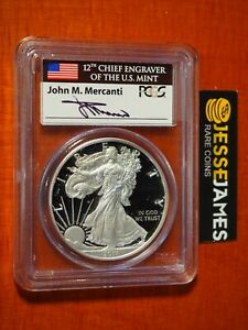 2011-W-PROOF-SILVER-EAGLE-PCGS-PR69-DCAM-FLAG-MERCANTI-FROM-25TH-ANNIVERSARY-SET