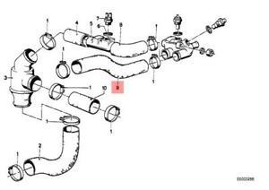 Genuine BMW E12 E21 E28 Cooling System Thermostat Water Hose OEM 11531265448