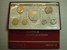 1975  Monaco  KMS / Coin Set , 1975 , im Original Folder