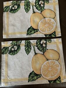 Set-Of-2-Lemon-Tapestry-Placemats