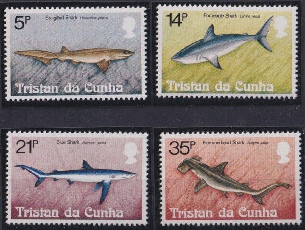 F-EX28620 TRISTAN DA CUNHA MNH 1982 MARINE WILDLIFE SHARK TUNA FISH PECES.